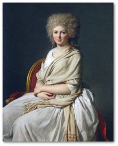 Jacques - Louis David, Portret Anne-Marie - Louise Thelusson, hrabiny Sorcy, 1790 , 4-3 c